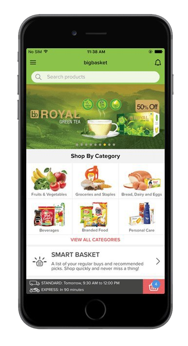 App Like Big Basket